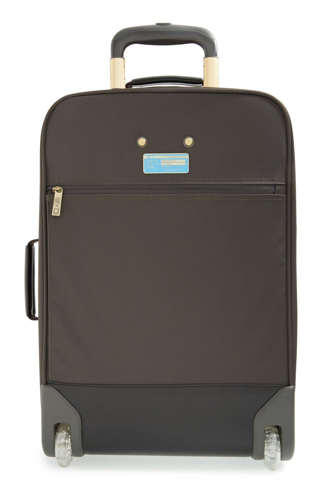 Avionette 22-Inch Rolling Carry-On Suitcase,                             Alternate thumbnail 2, color,                             Charcoal