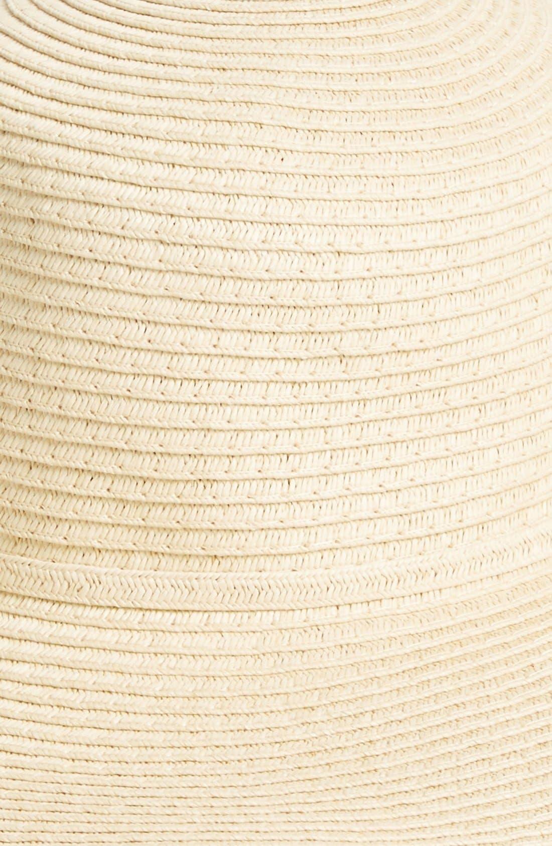 Alternate Image 2  - Amici Accessories Floppy Straw Hat (Juniors)