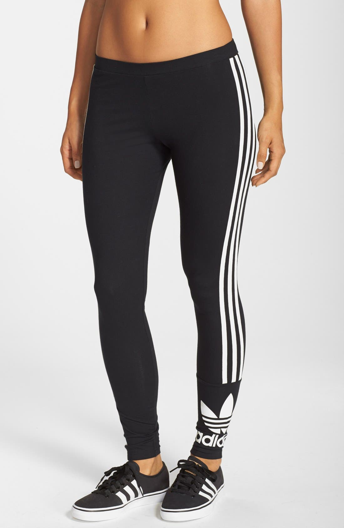 Alternate Image 1 Selected - adidas Originals '3-Stripes' Stretch Cotton Leggings