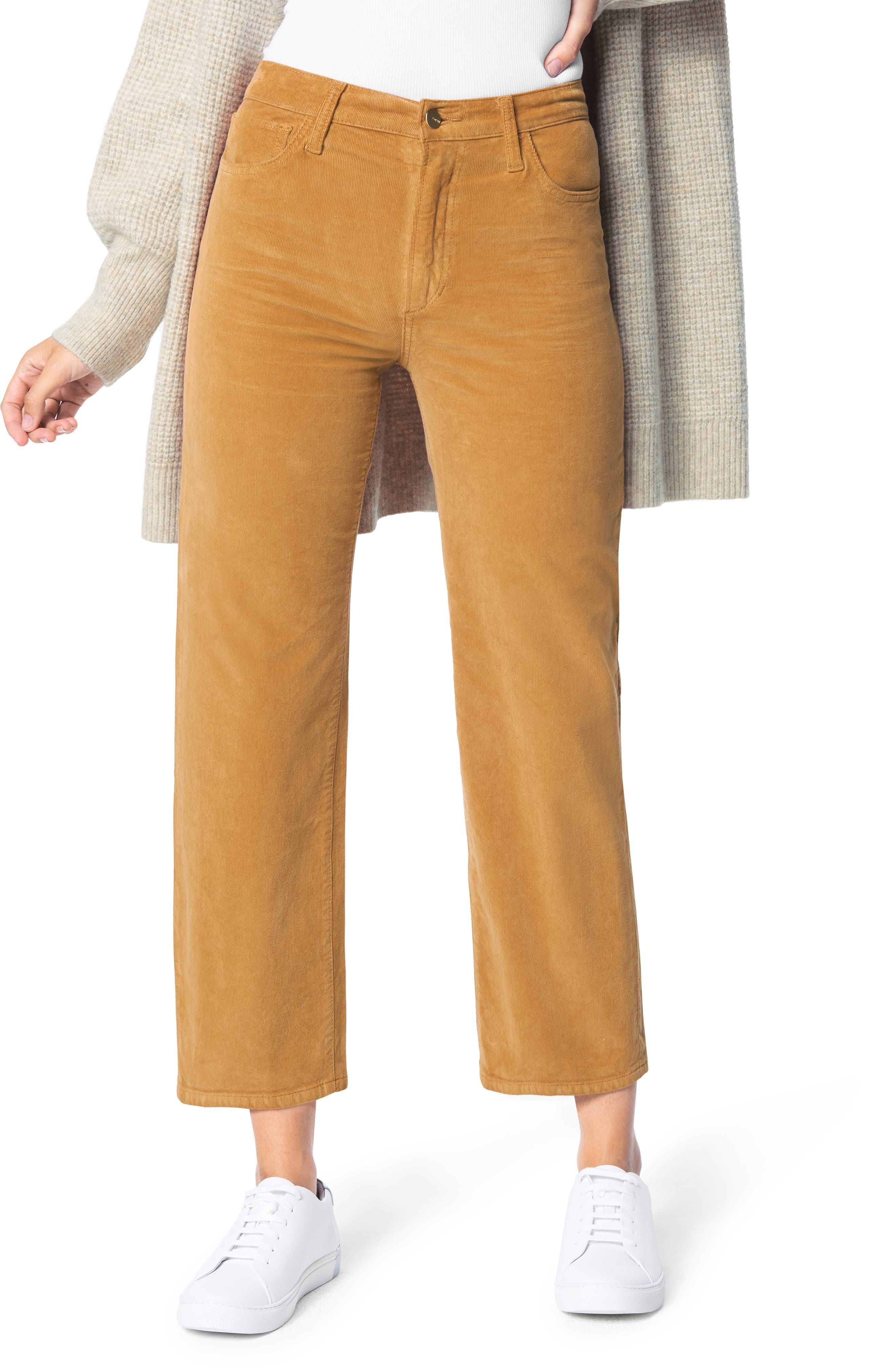 Huyghdfb Womens Straight Leg Pants Corduroy Mid Waist Patchwork Corduroy Pants Casual Trousers with Pockets