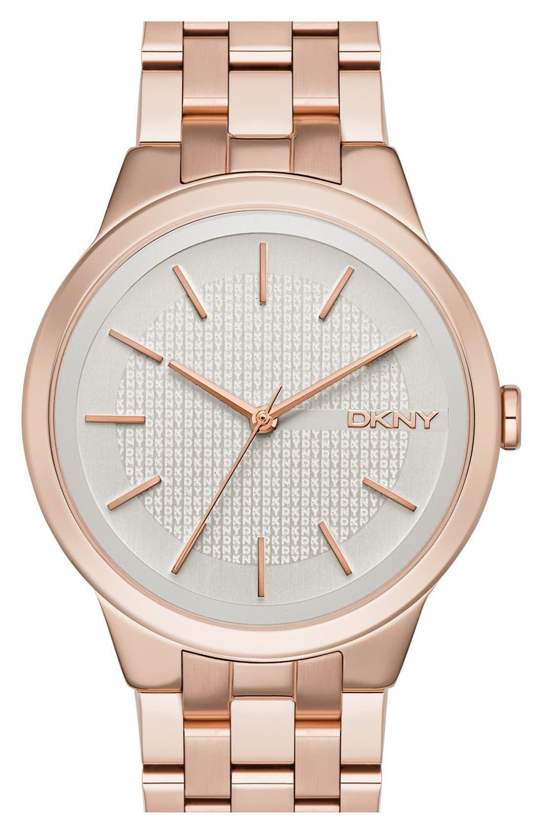 Alternate Image 1 Selected - DKNY 'Park Slope' Bracelet Watch, 36mm