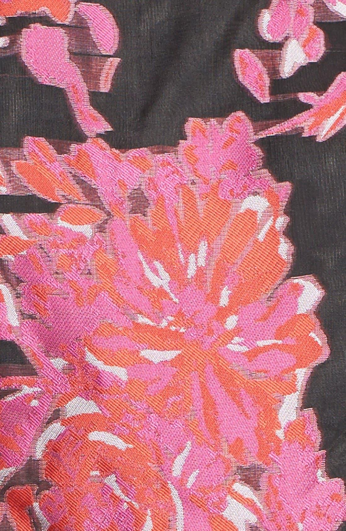 Alternate Image 4  - Taylor Dresses Floral Burnout Organza Fit & Flare Dress