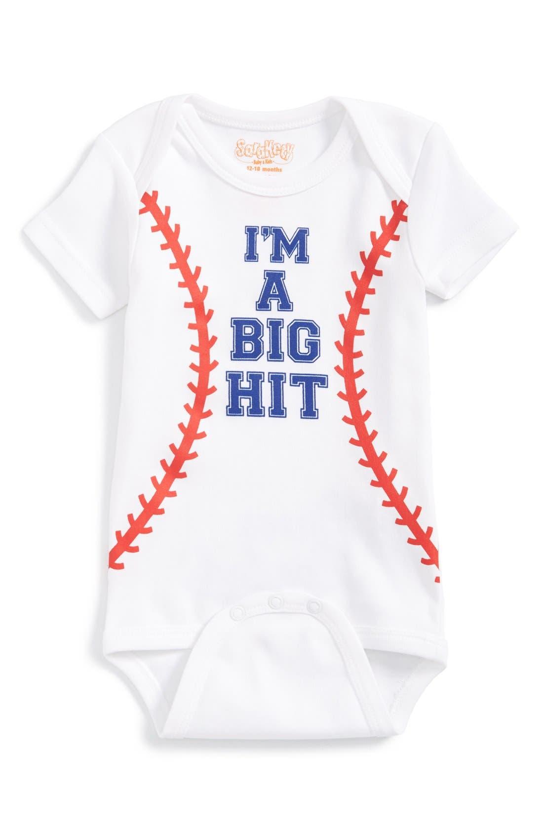 Sara Kety Baby & Kids 'I'm a Big Hit' Graphic Bodysuit (Baby)
