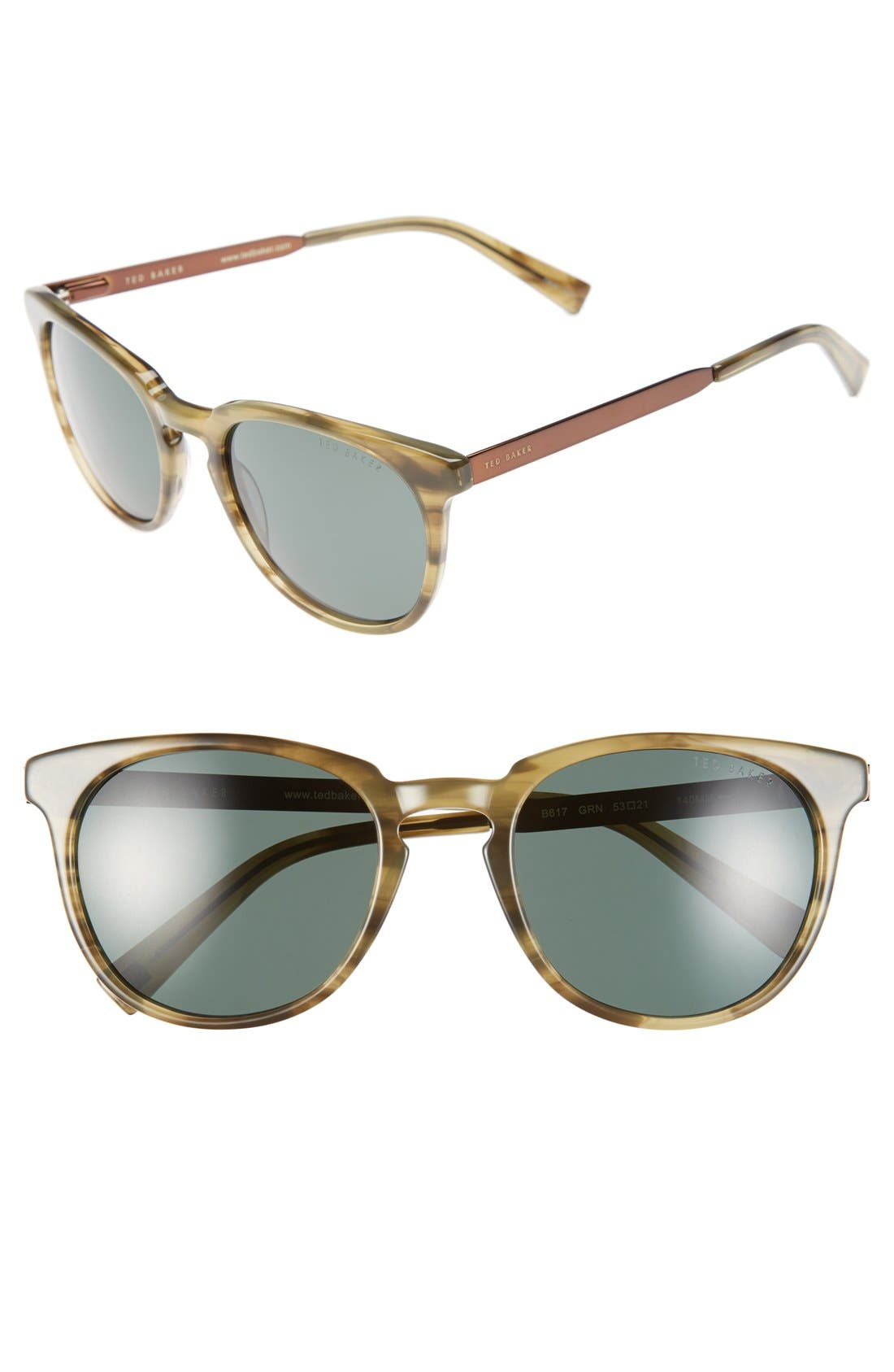 Ted Baker London 53mm Round Sunglasses