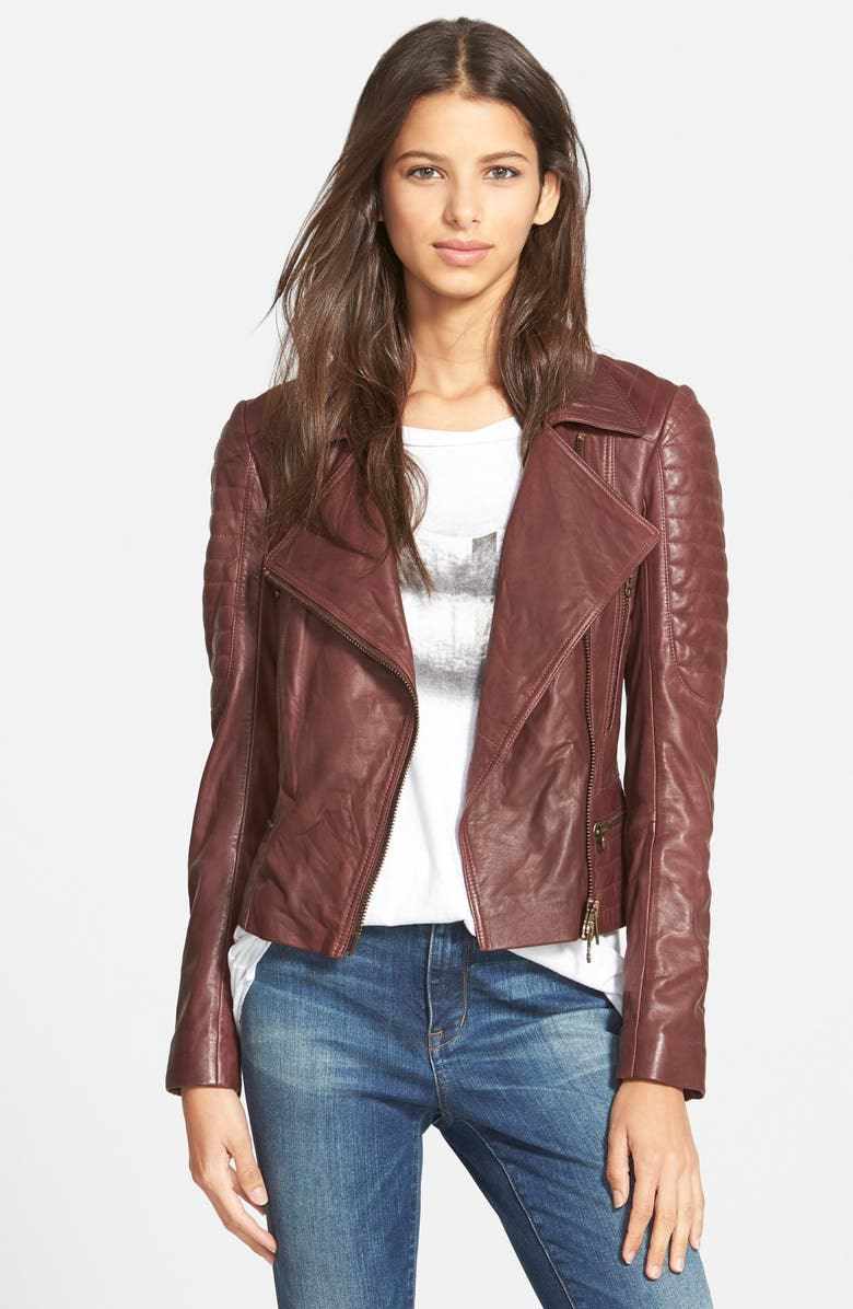 Pam Gela Quilted Leather Moto Jacket Nordstrom