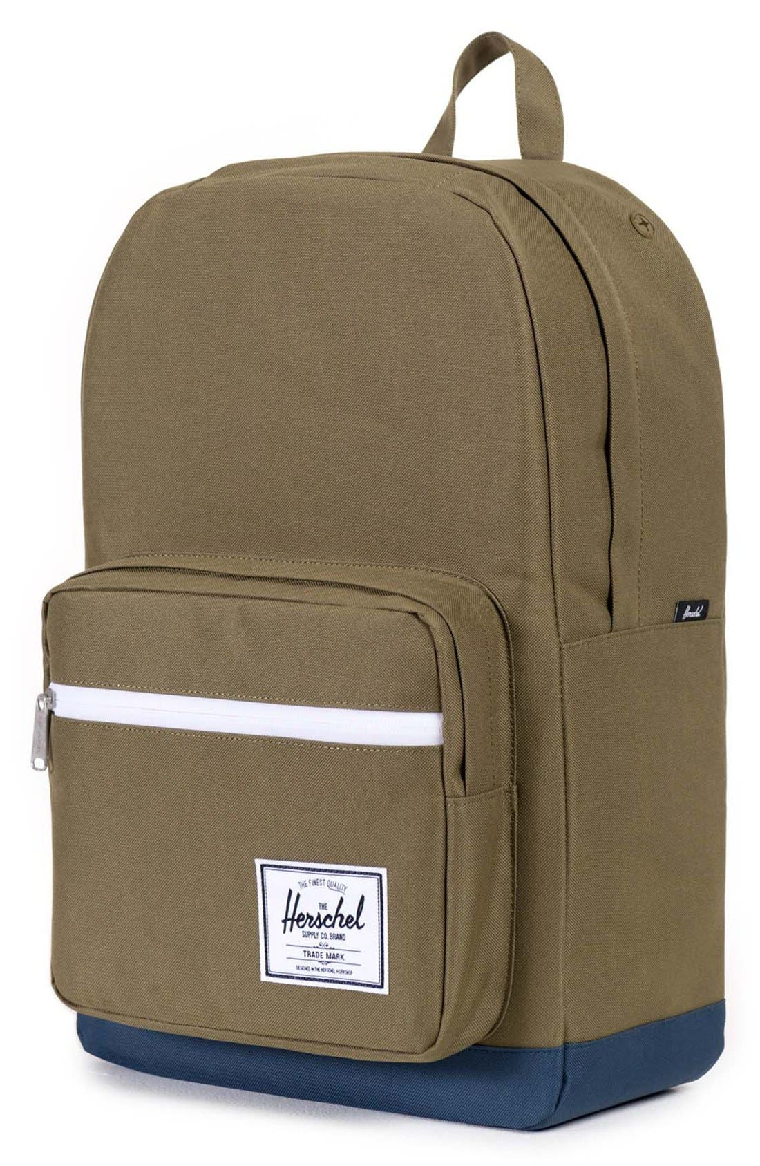 'Pop Quiz' Backpack,                             Alternate thumbnail 4, color,                             Army/ Navy