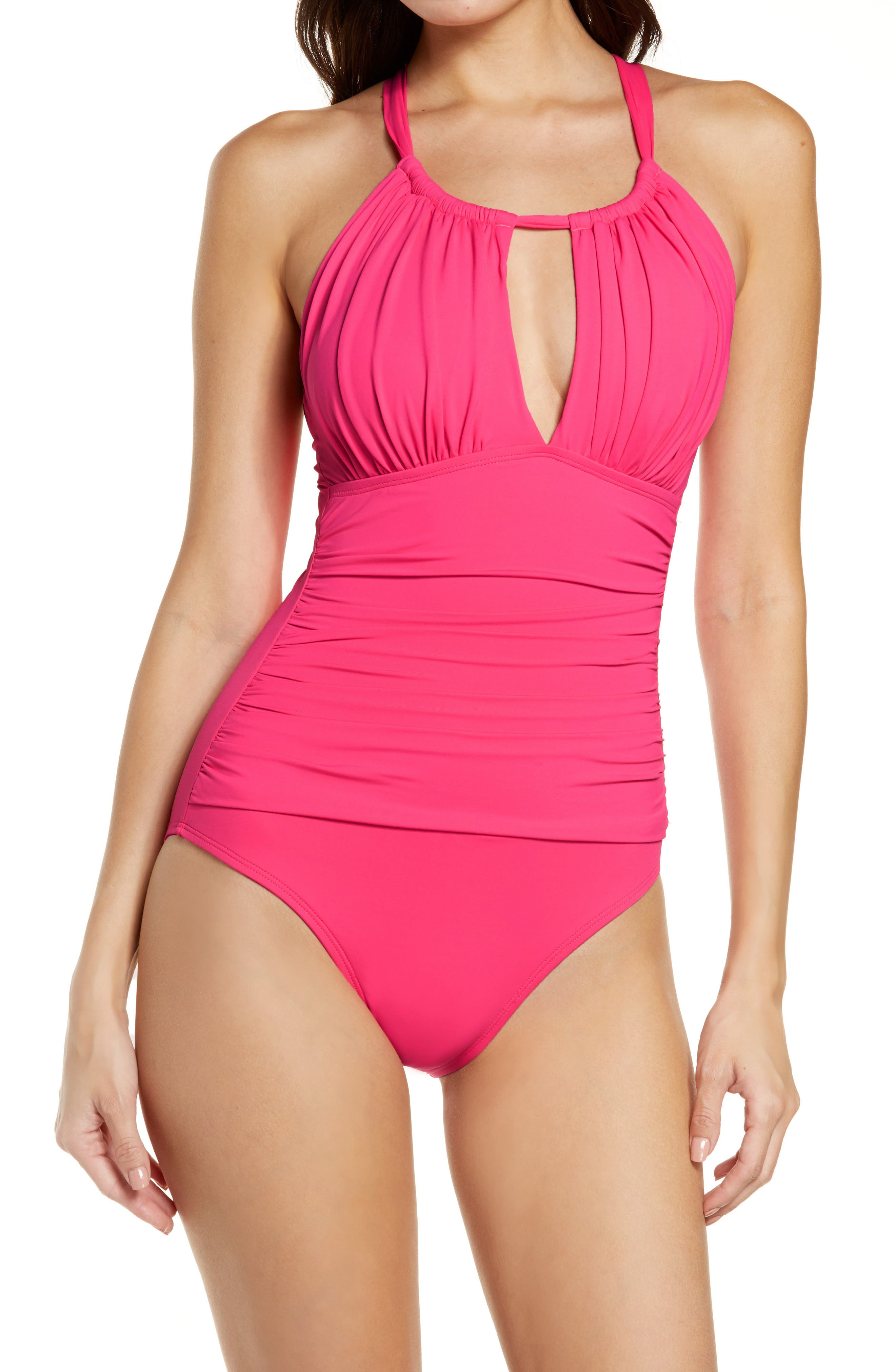 Reef Womens Vintage Vibes High Neck One Piece Swimsuit