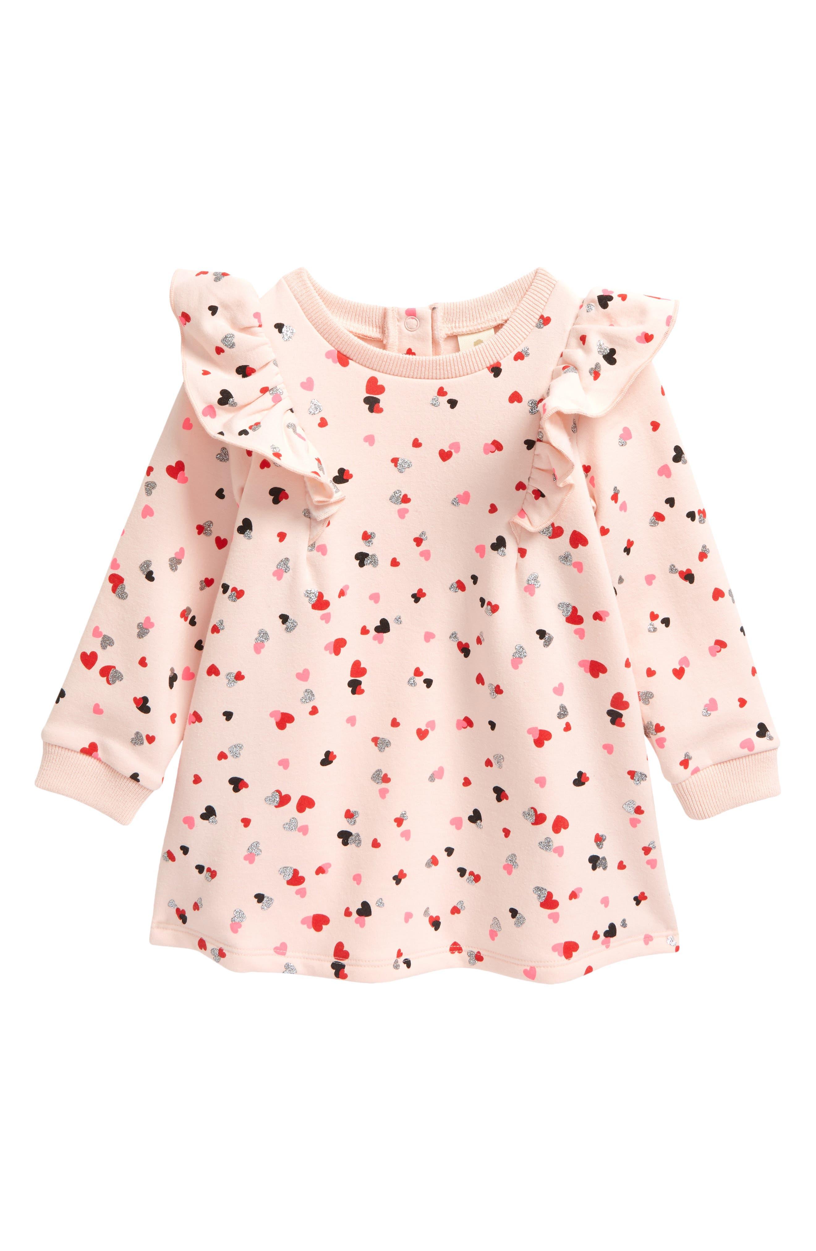 LAURA ASHLEY baby girl pink blosom eyelet trim TUNIC //Blouse LEGGING SET 6 9 18M