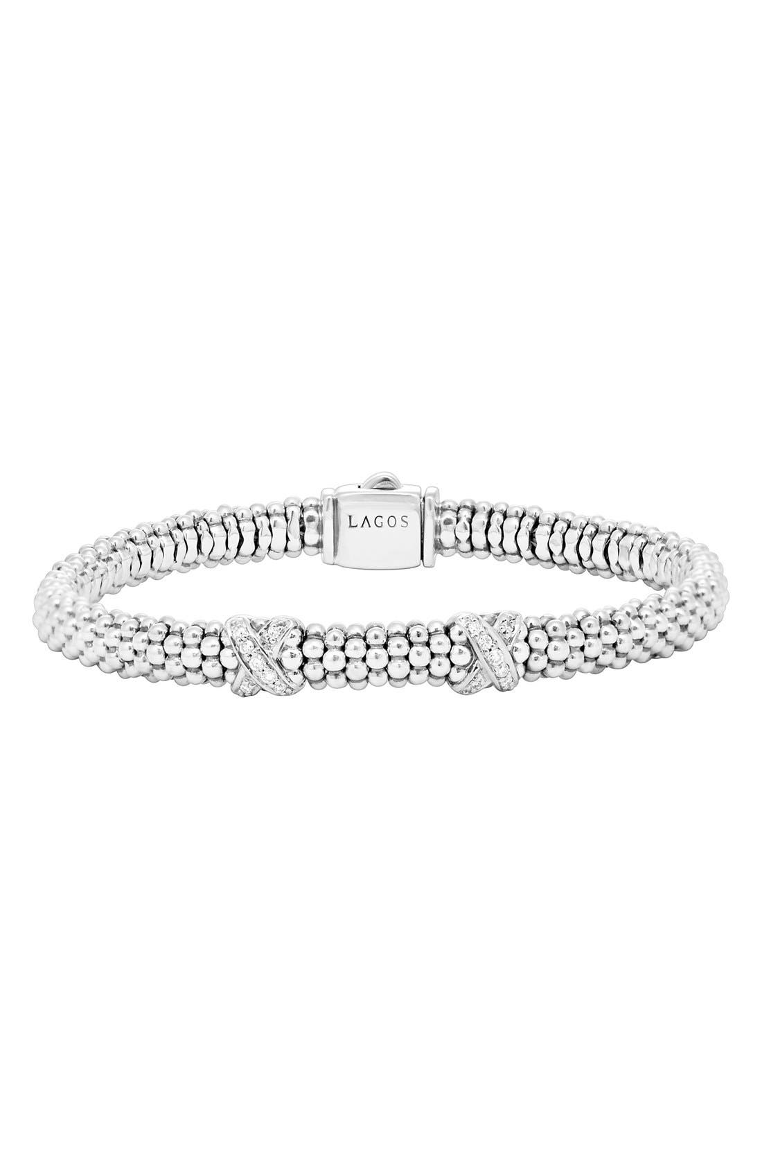 LAGOS Signature Caviar Diamond Rope Bracelet