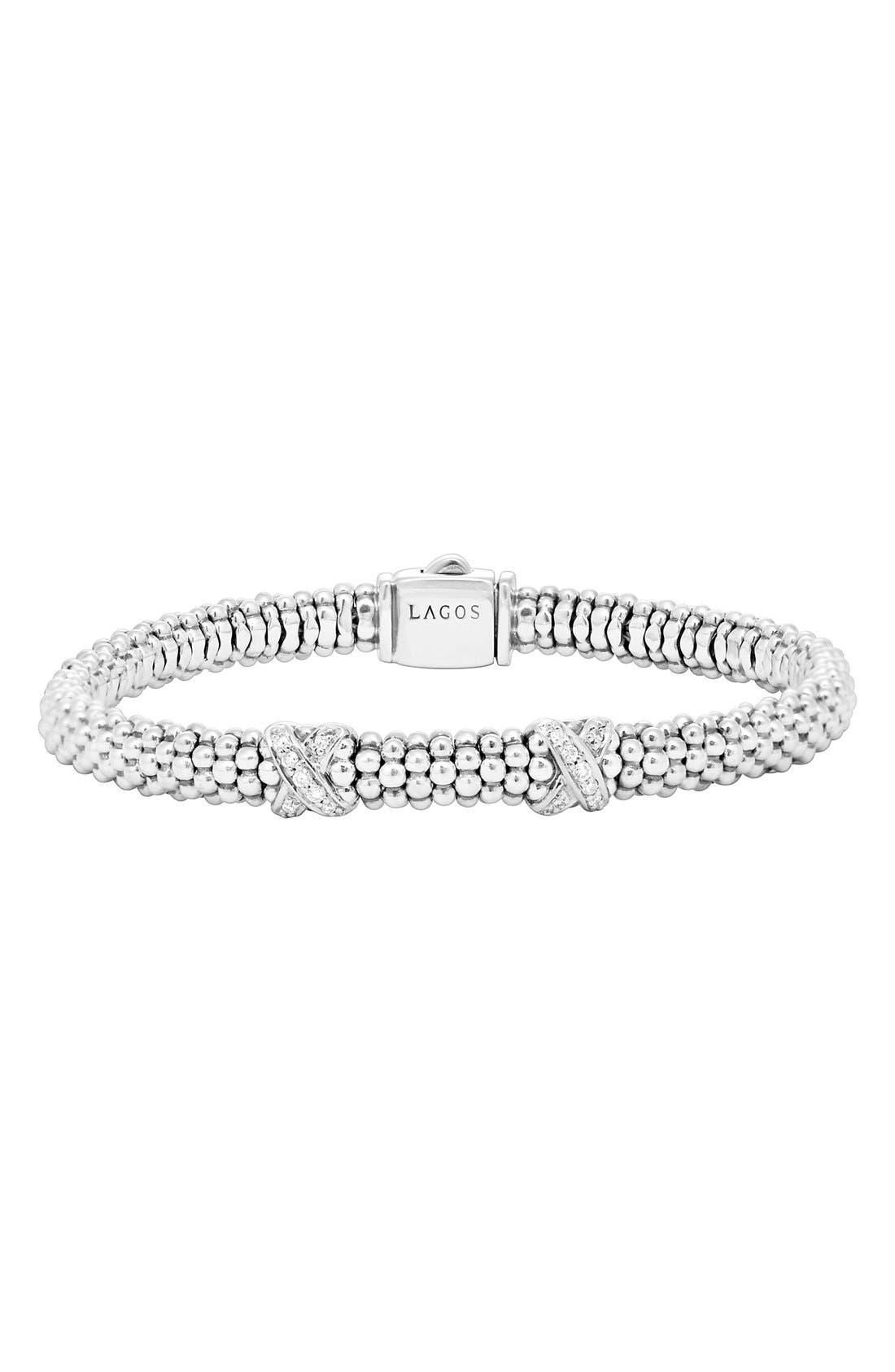 Lagos 'Signature Caviar' Diamond Rope Bracelet (Online Only)