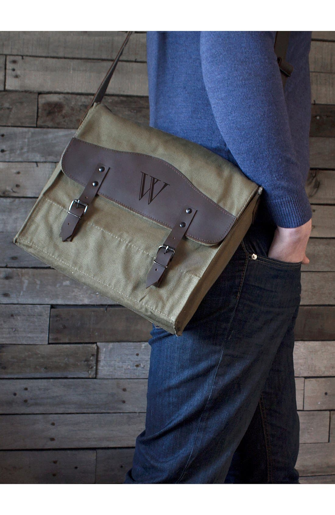 Alternate Image 2  - Cathy's Concepts Monogram Messenger Bag