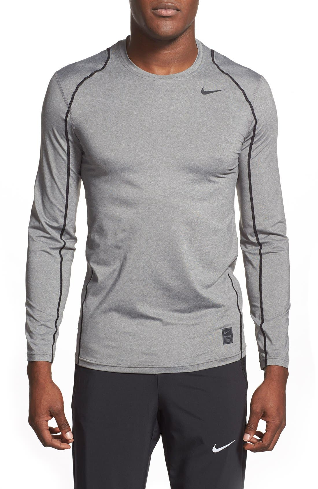 Alternate Image 1 Selected - Nike 'Pro Coo' Fitted Long Sleeve Dri-FIT T-Shirt