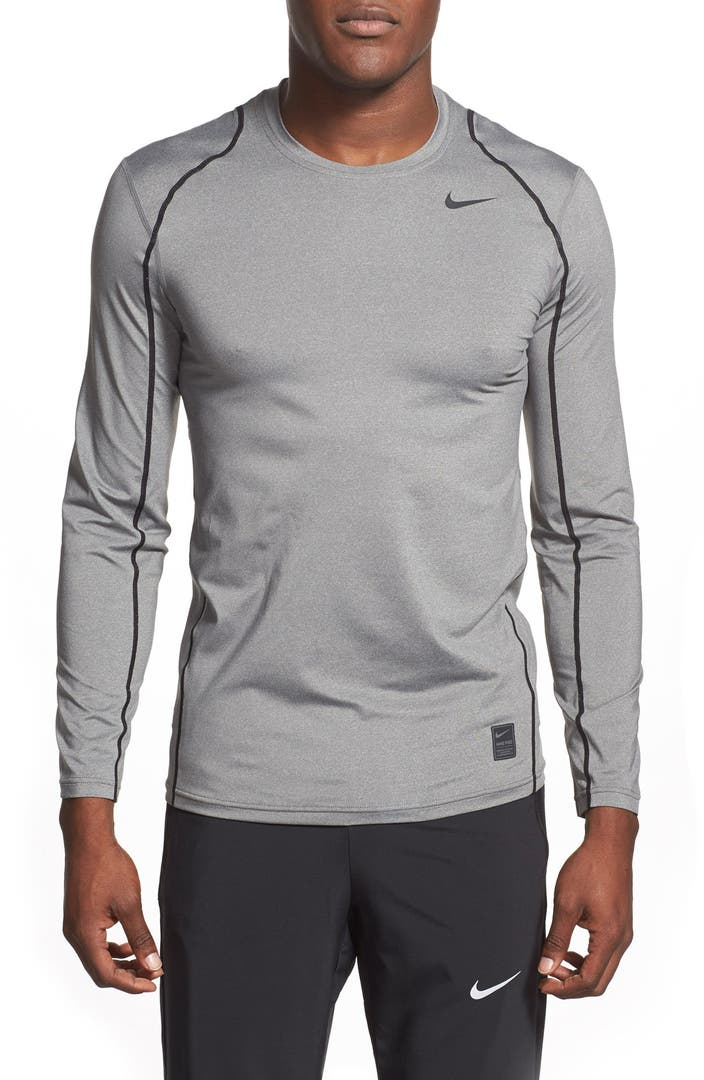 Nike 39 pro coo 39 fitted long sleeve dri fit t shirt nordstrom for Long sleeve fitted tee shirt