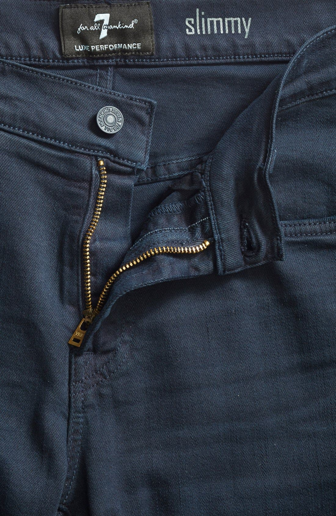 Alternate Image 2  - 7 For All Mankind® 'Slimmy - Luxe Performance' Slim Fit Jeans (Night Navy)