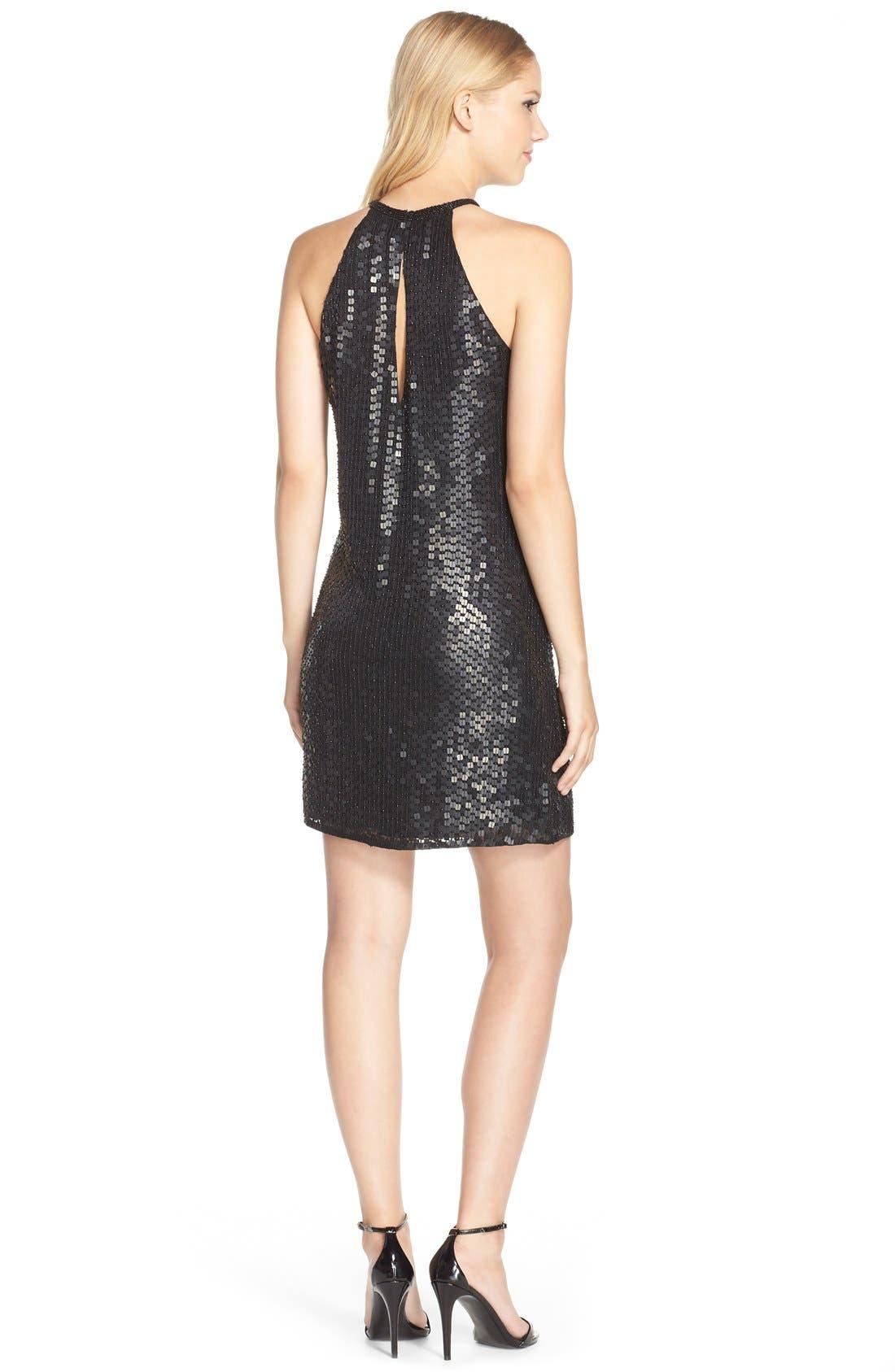 Alternate Image 2  - Parker Black Embellished Silk Minidress