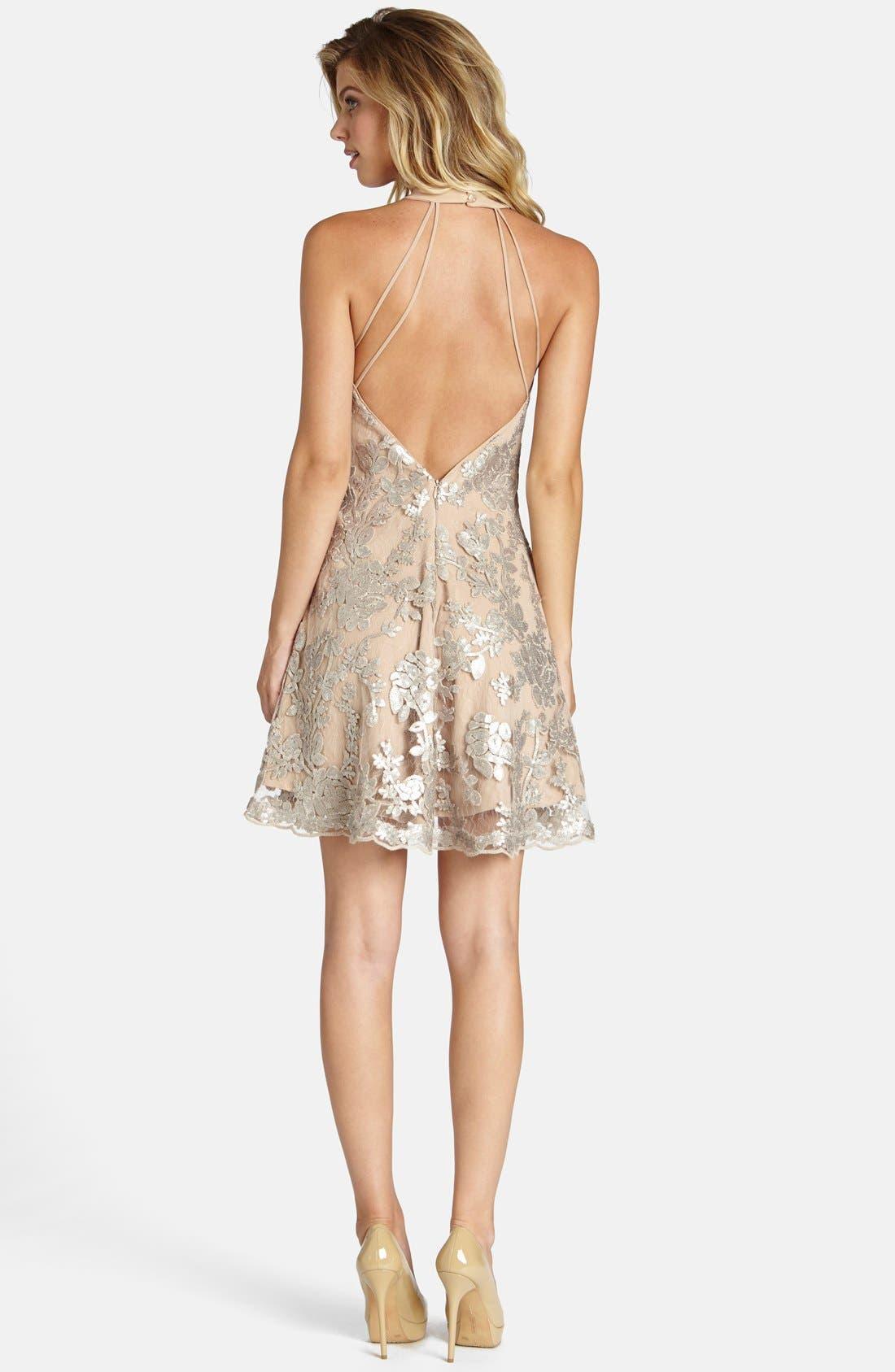 Alternate Image 2  - Dress the Population Abbie Minidress