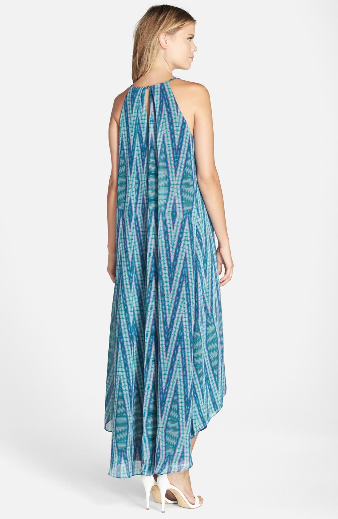Alternate Image 2  - Adelyn Rae Print Trapeze Maxi Dress