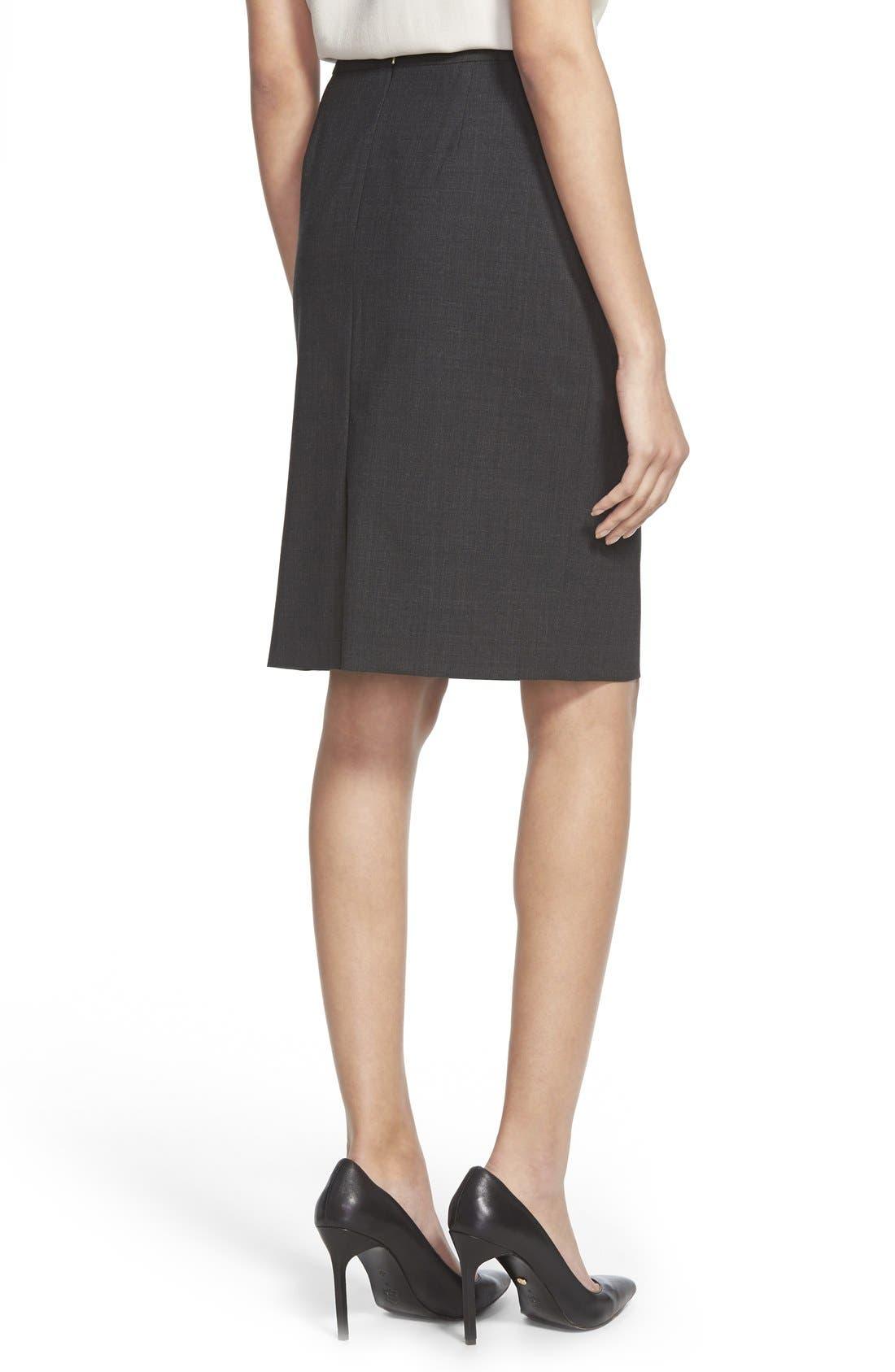 Alternate Image 2  - BOSS Vilea Stretch Wool Pencil Skirt (Regular & Petite)