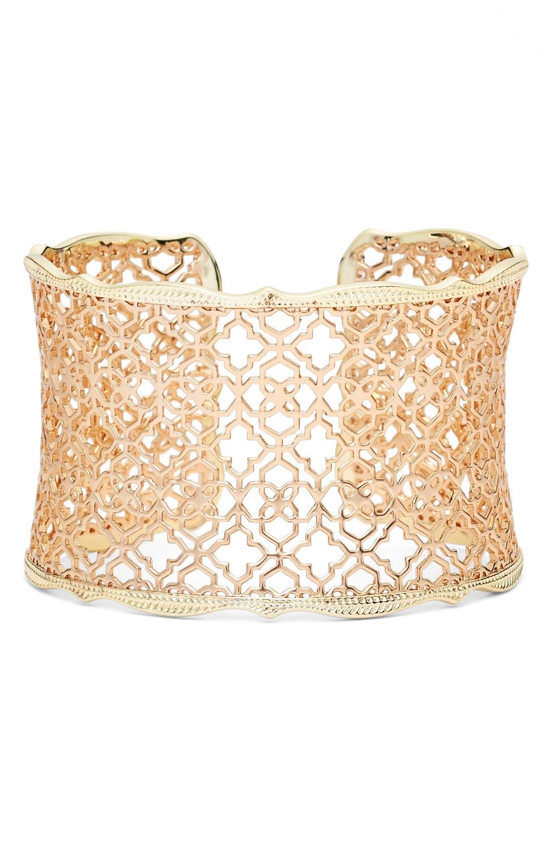 'Mystic Bazaar - Candice' Wide Cuff,                         Main,                         color, Rose Gold/ Gold
