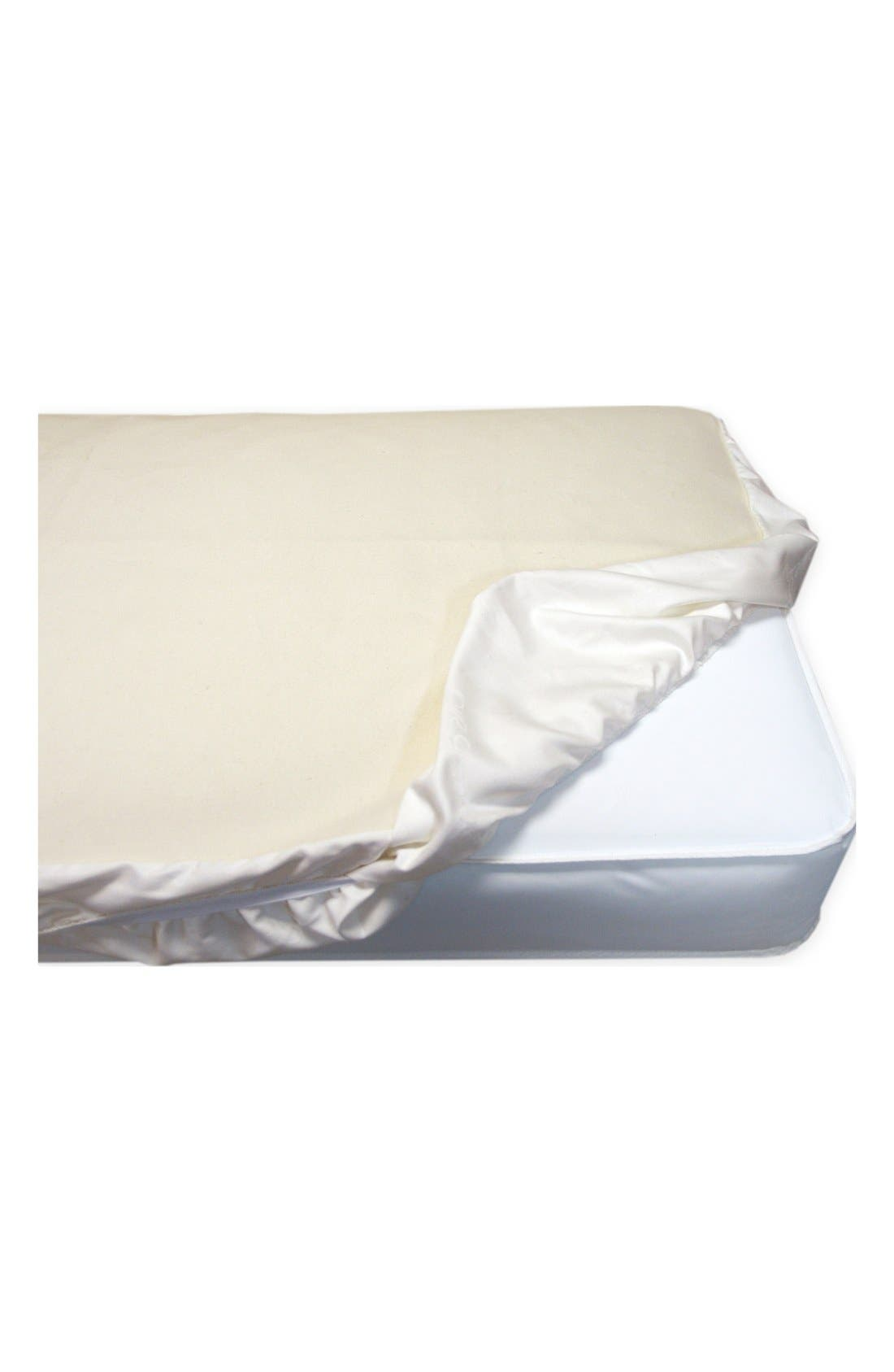Alternate Image 1 Selected - Naturepedic Organic Cotton Waterproof Fitted Crib Protector Pad