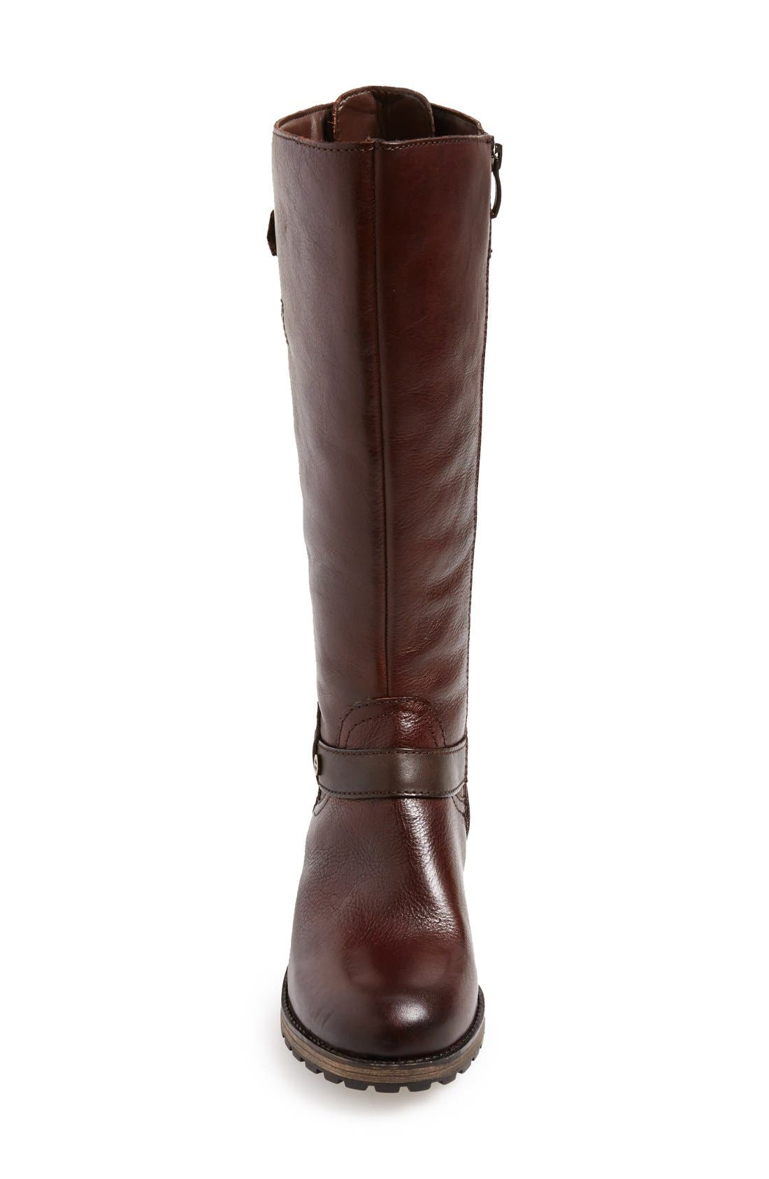 'Tanita' Boot,                             Alternate thumbnail 2, color,                             Tan Leather Wide Calf