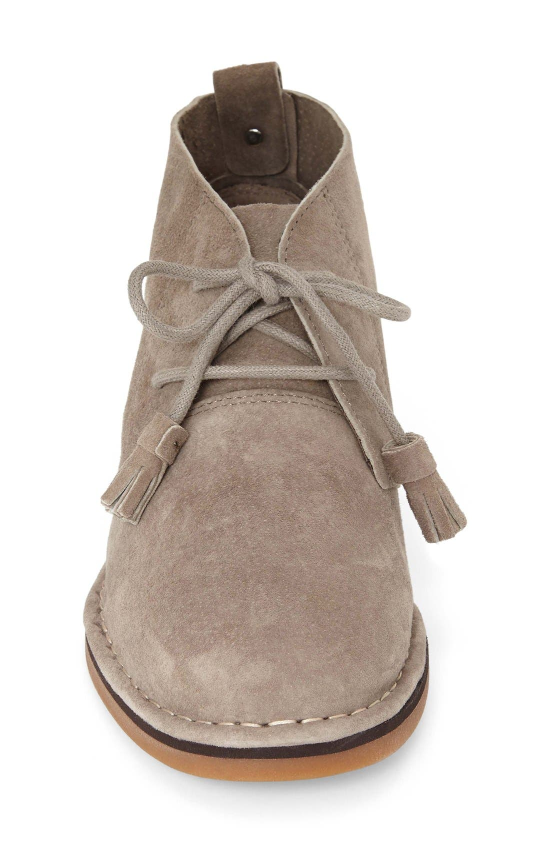 'Cyra Catelyn' Chukka Boot,                             Alternate thumbnail 3, color,                             Taupe Suede