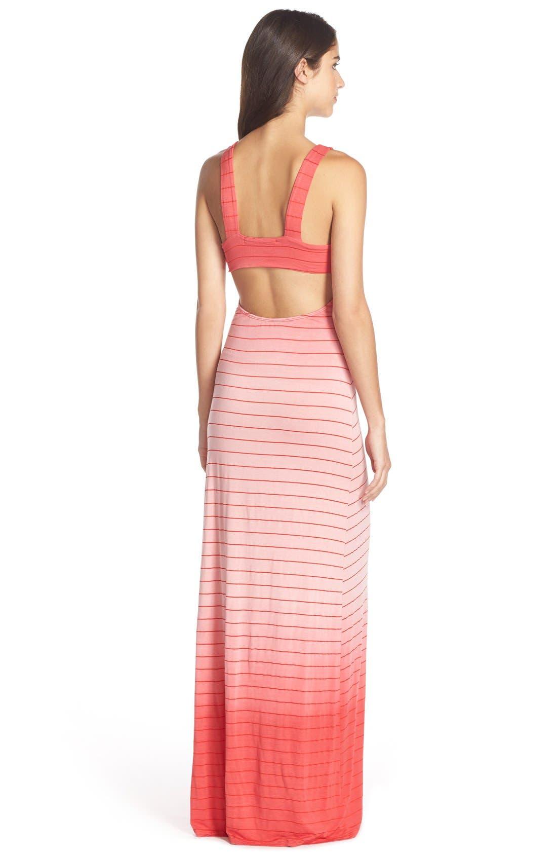 Alternate Image 2  - Fraiche by J Ombré Tie Dye Jersey Maxi Dress