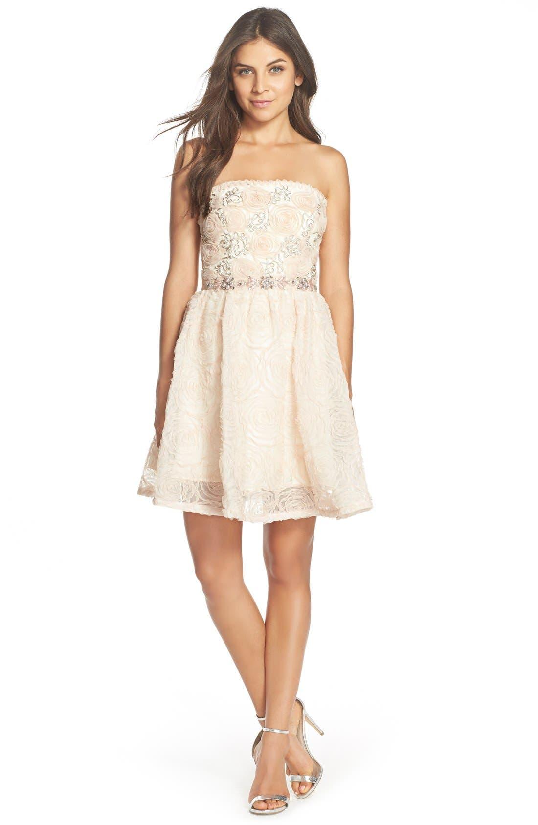 Alternate Image 3  - Adrianna PapellEmbellished Tulle Fit & Flare Dress