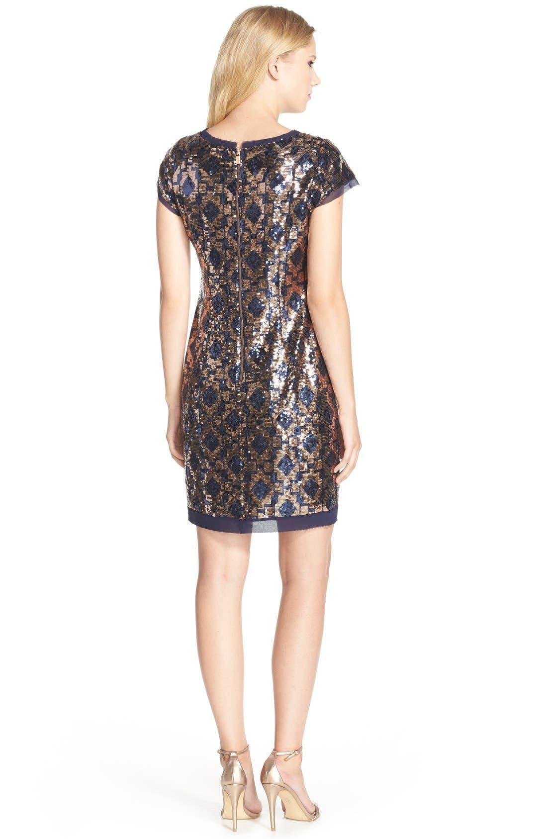 Alternate Image 2  - Vince CamutoGeometric Sequin Chiffon Shift Dress