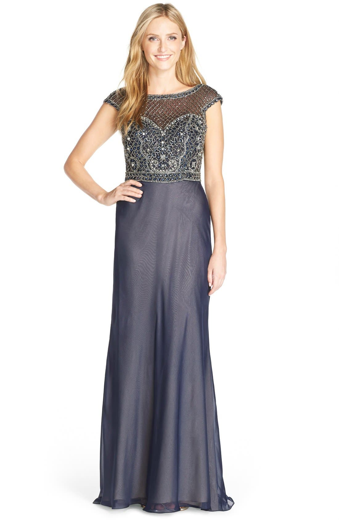 Main Image - Terani Couture Embellished Chiffon Gown