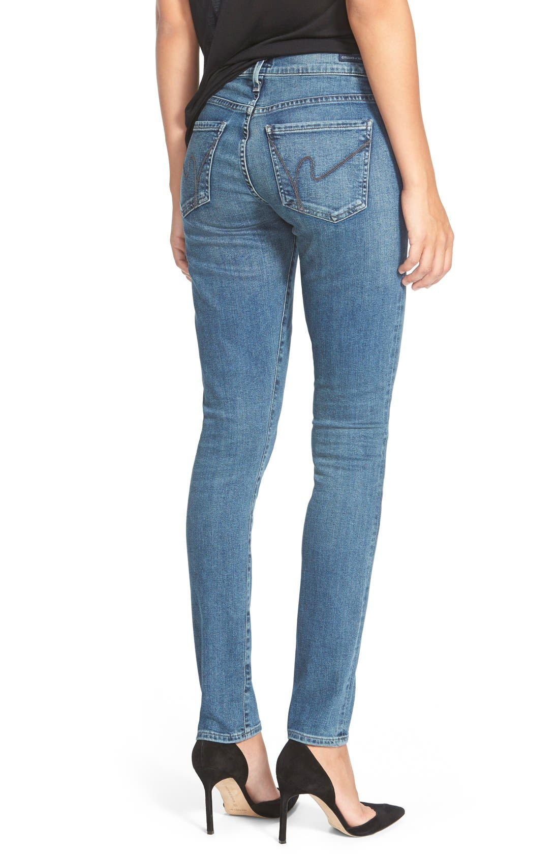 Alternate Image 2  - Citizens of Humanity Skinny Jeans (Clear Lake)