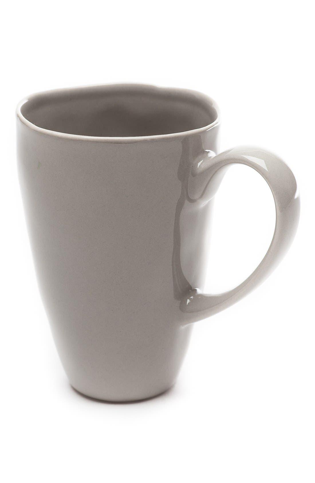 Sculptured Porcelain Coffee Mugs,                         Main,                         color, Grey