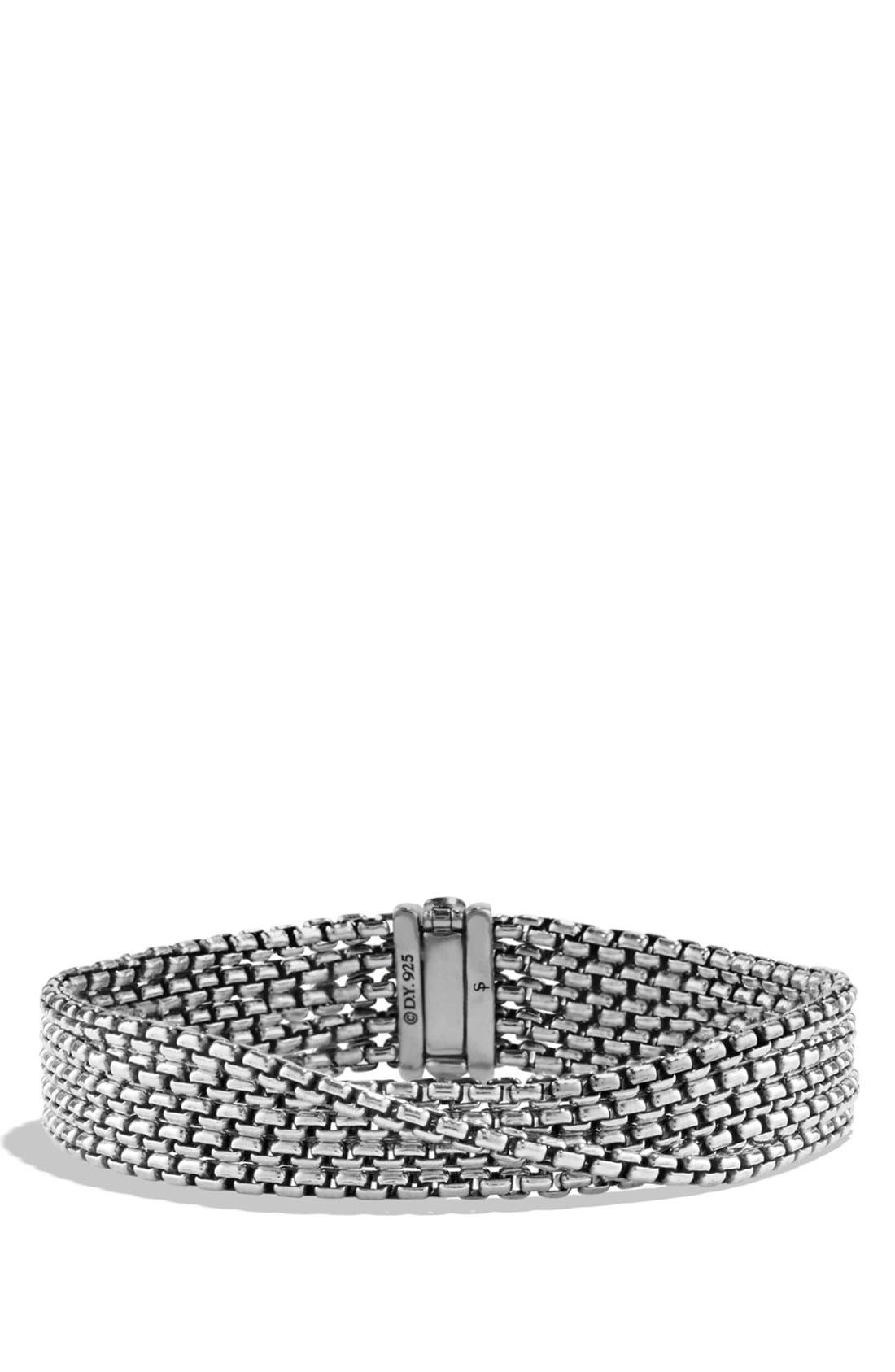 'Chain' Box Chain Five-Row Bracelet,                             Main thumbnail 1, color,                             Silver