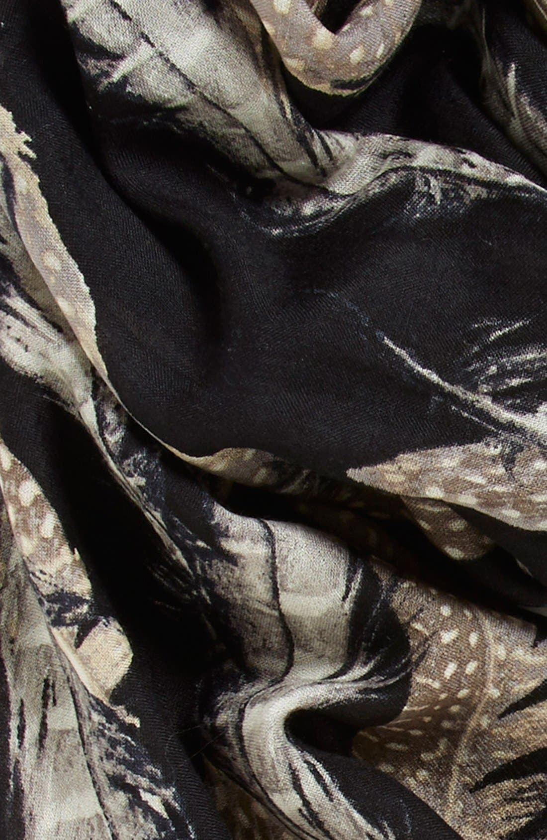 Alternate Image 3  - Nordstrom 'Quill Challis' Feather Print Wool Scarf