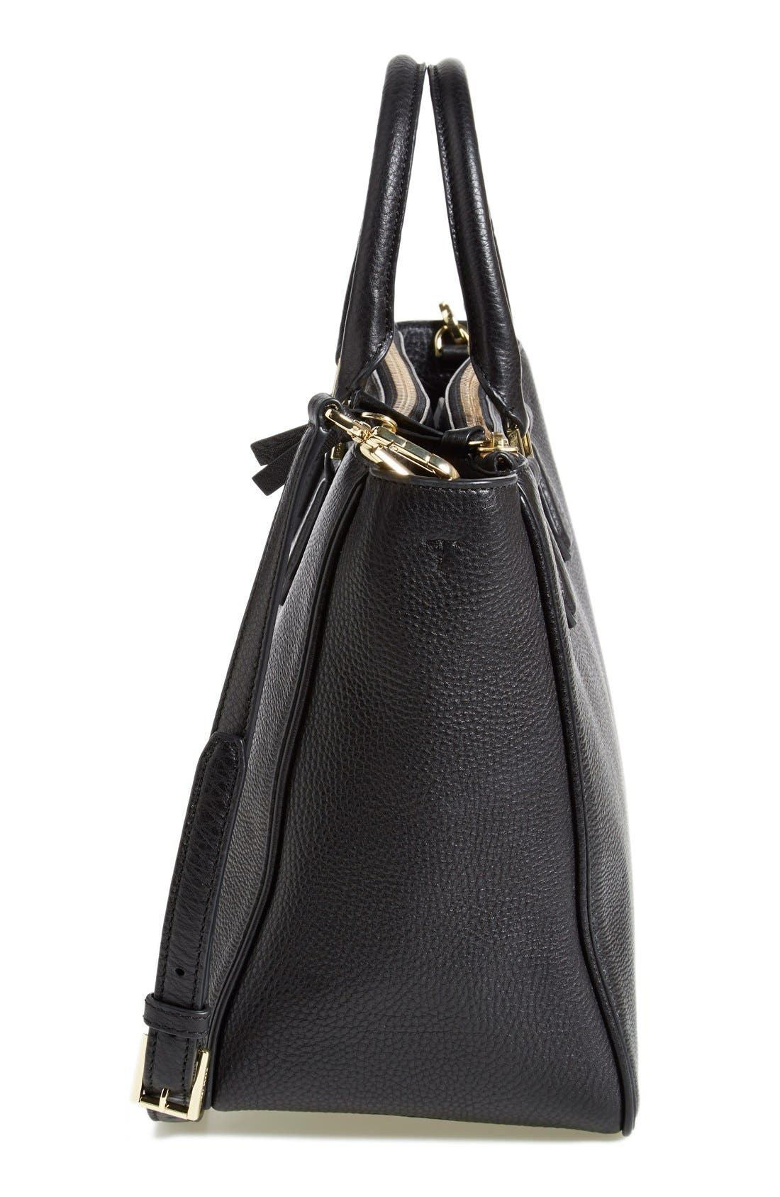 Alternate Image 5  - Tory Burch 'Robinson' Pebbled Leather Double Zip Tote