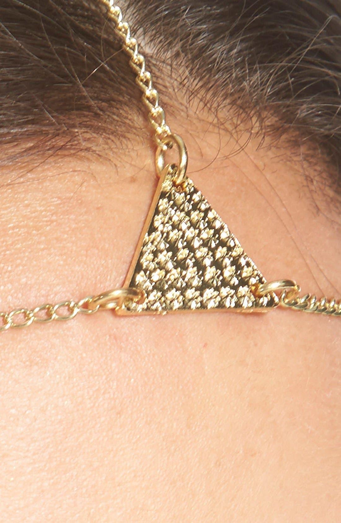 Alternate Image 2  - Lulu Triangle Pendant Head Chain