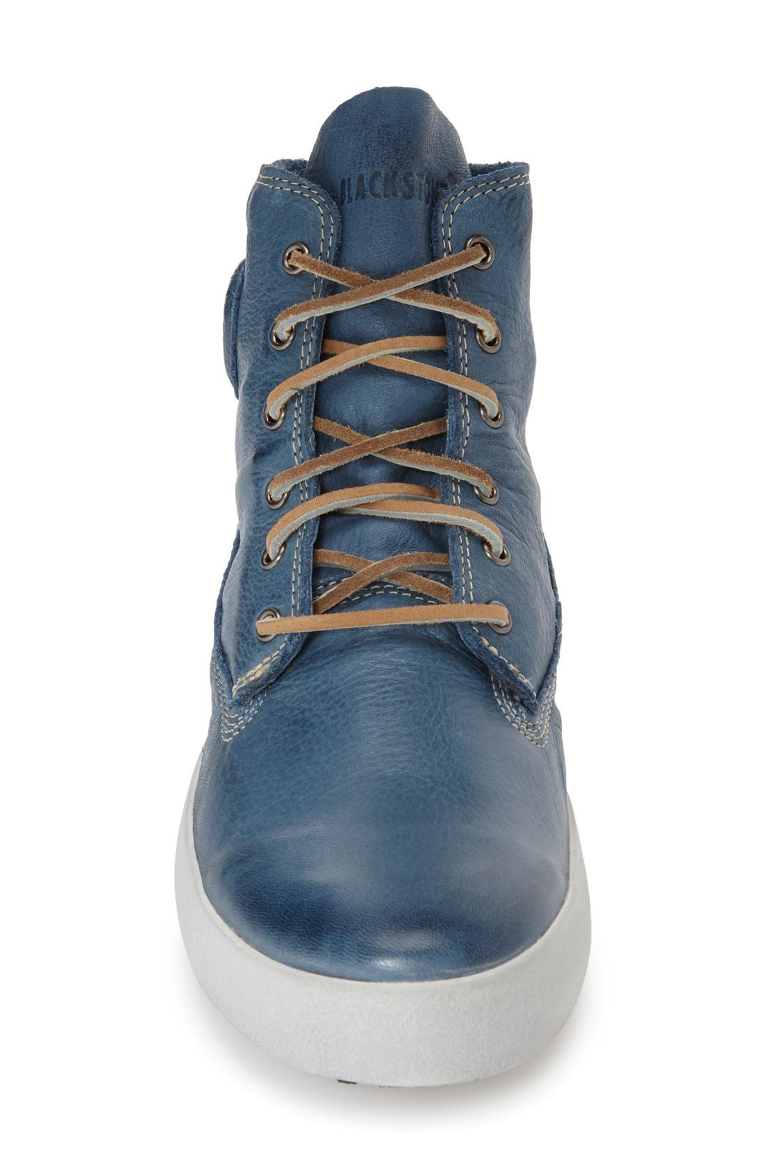 'JM04' Sneaker,                             Alternate thumbnail 3, color,                             Light Indigo Leather