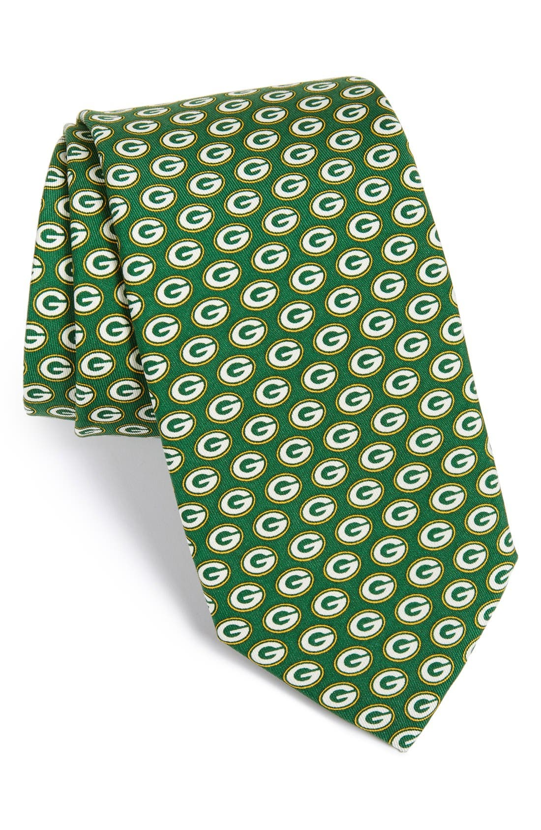 Green Bay Packers - NFL Woven Silk Tie,                             Main thumbnail 1, color,                             Green