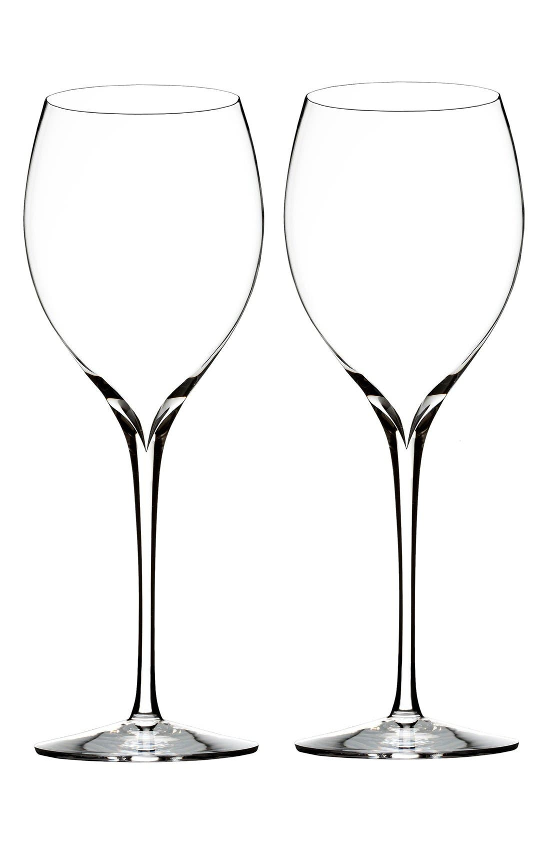 Main Image - Waterford 'Elegance' Fine Crystal Chardonnay Glasses (Set of 2)