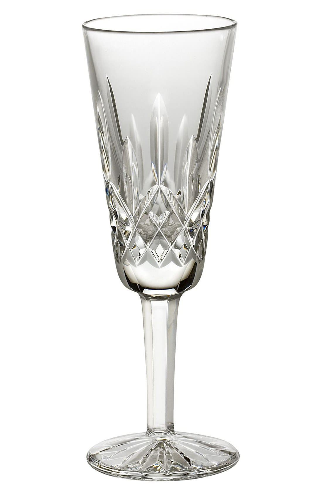'Lismore' Lead Crystal Champagne Flute,                             Main thumbnail 1, color,                             Clear