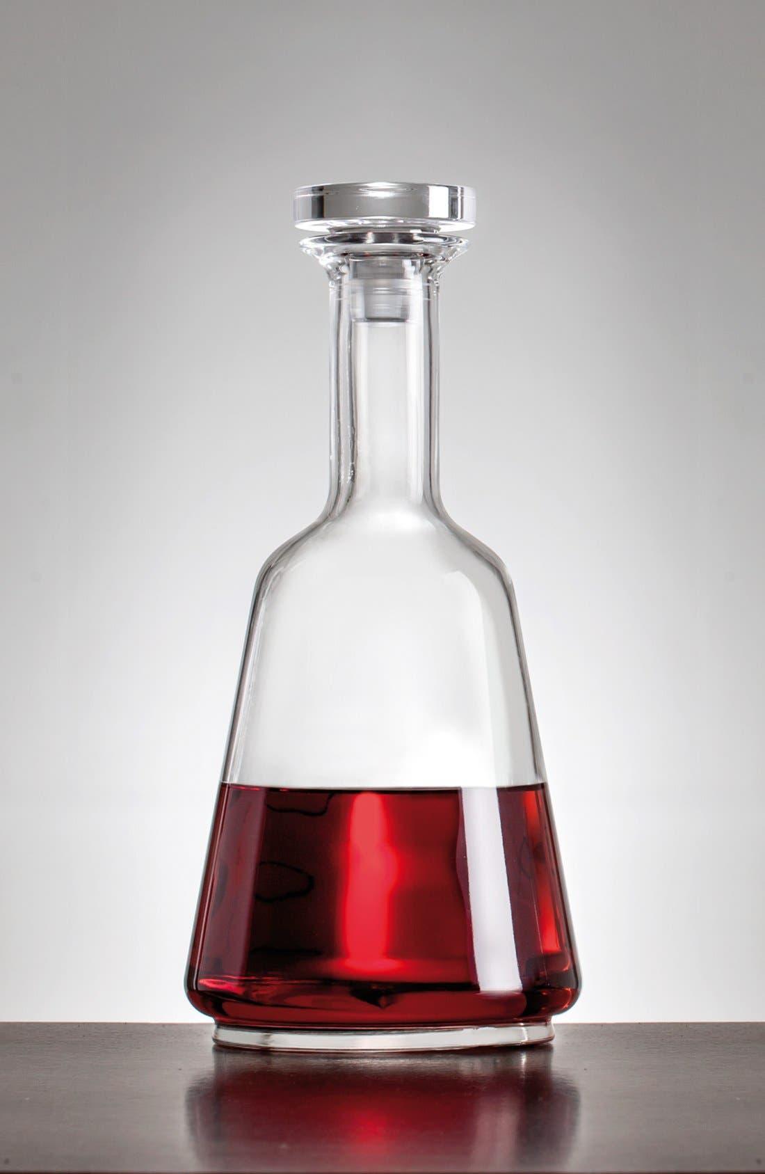 'Prestige' Wine Bottle & Stopper,                             Main thumbnail 1, color,                             White
