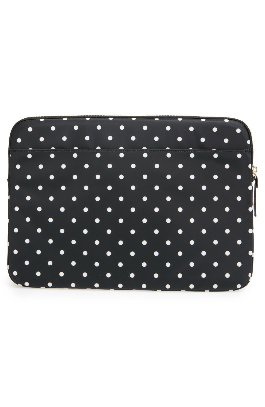 'classic nylon - mini pavilion' laptop sleeve,                             Alternate thumbnail 2, color,                             Black/ Cream