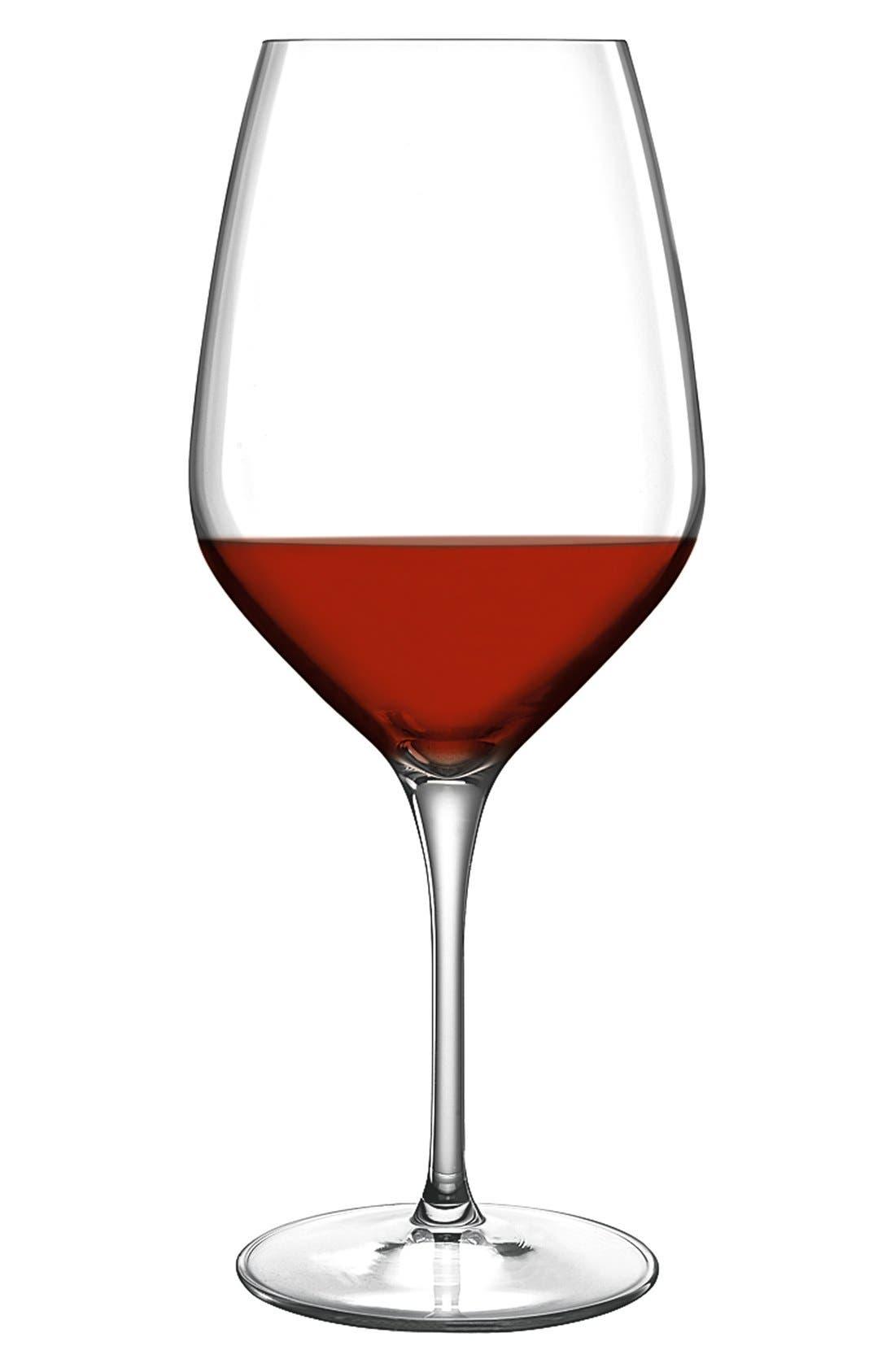 Prestige Set of 4 Wine Glasses,                             Alternate thumbnail 3, color,                             White