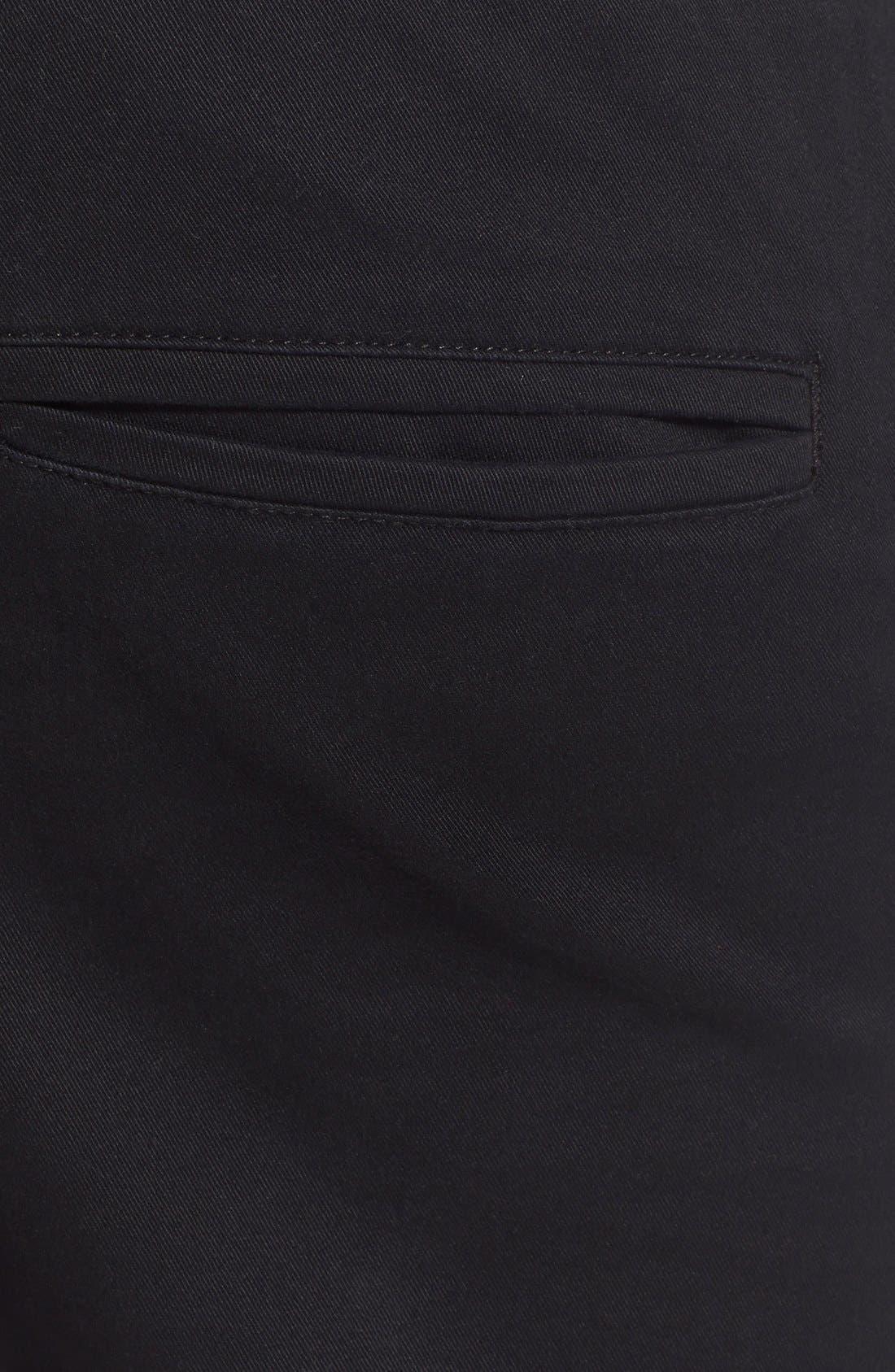 'Sureshot' Slim Tapered Leg Jogger Chinos,                             Alternate thumbnail 3, color,                             Black