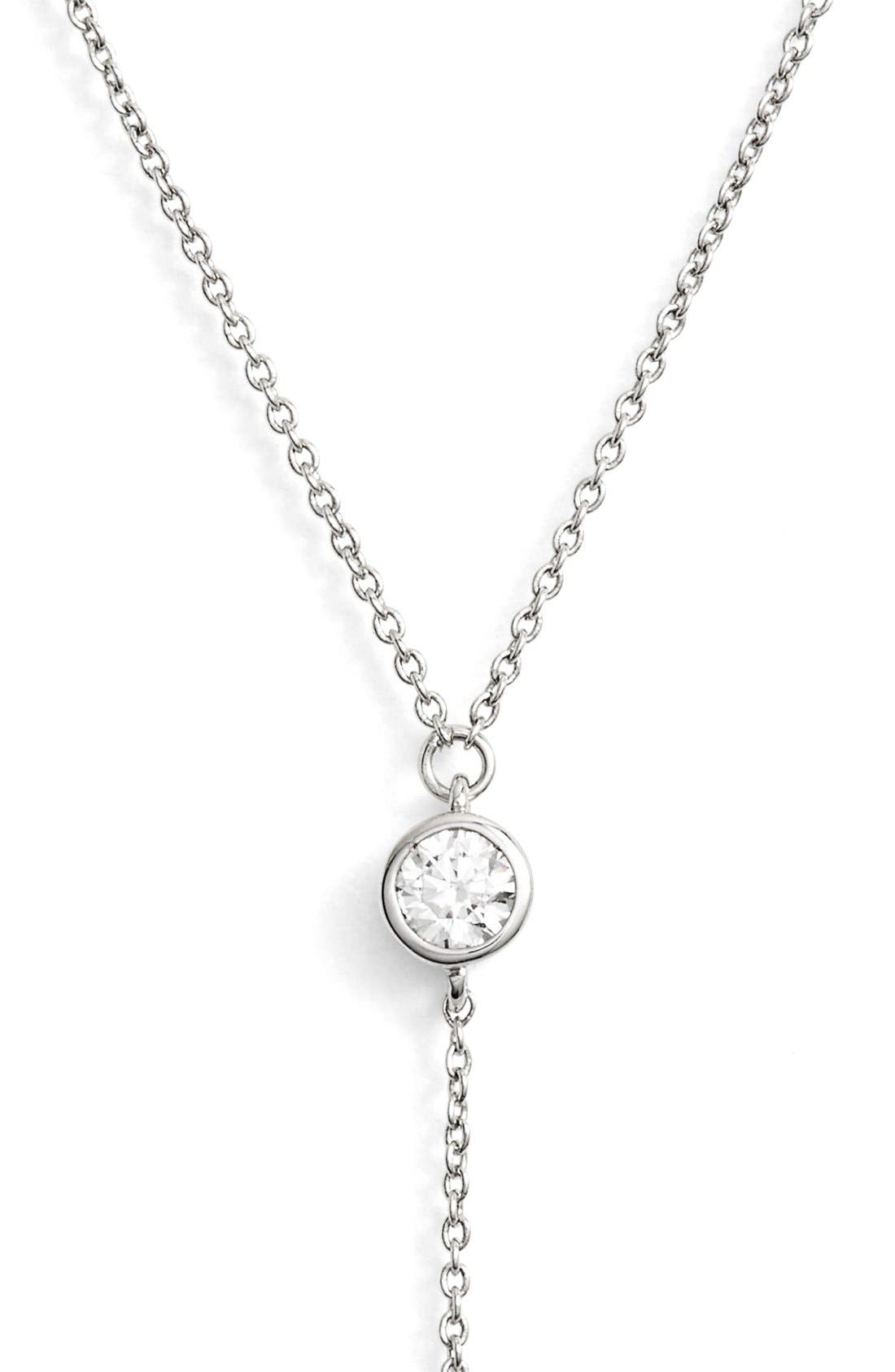 Alternate Image 2  - Alainn Cubic Zirconia Lariat Necklace