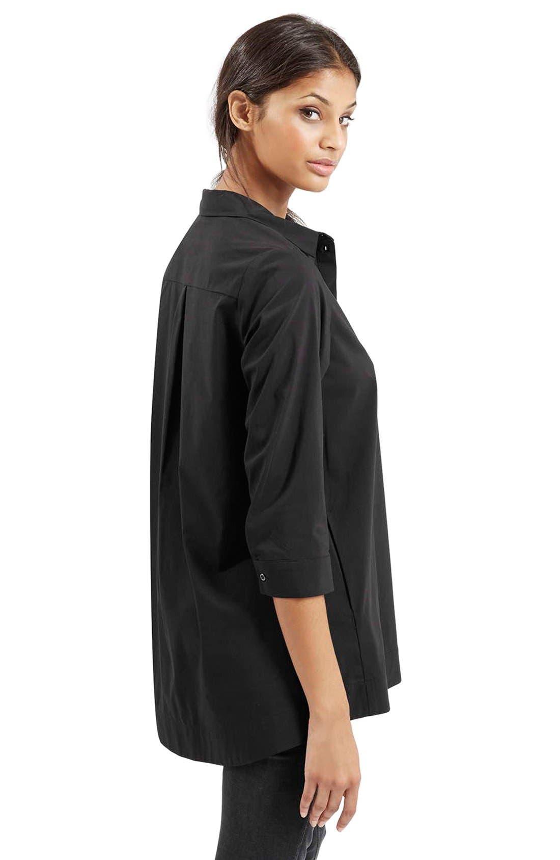 Alternate Image 4  - Topshop Oversize Poplin Shirt