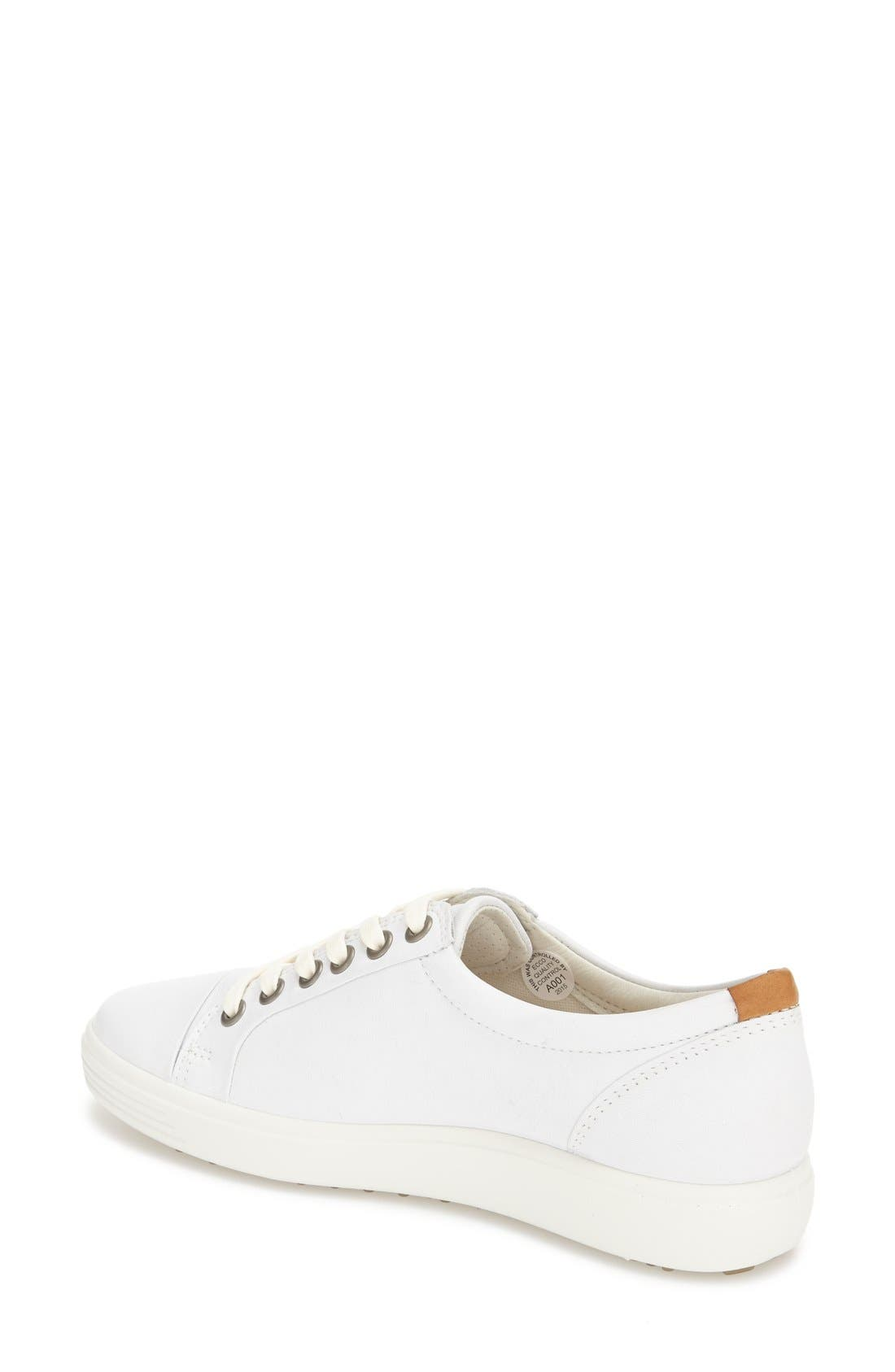 'Soft 7' Cap Toe Sneaker,                             Alternate thumbnail 2, color,                             White