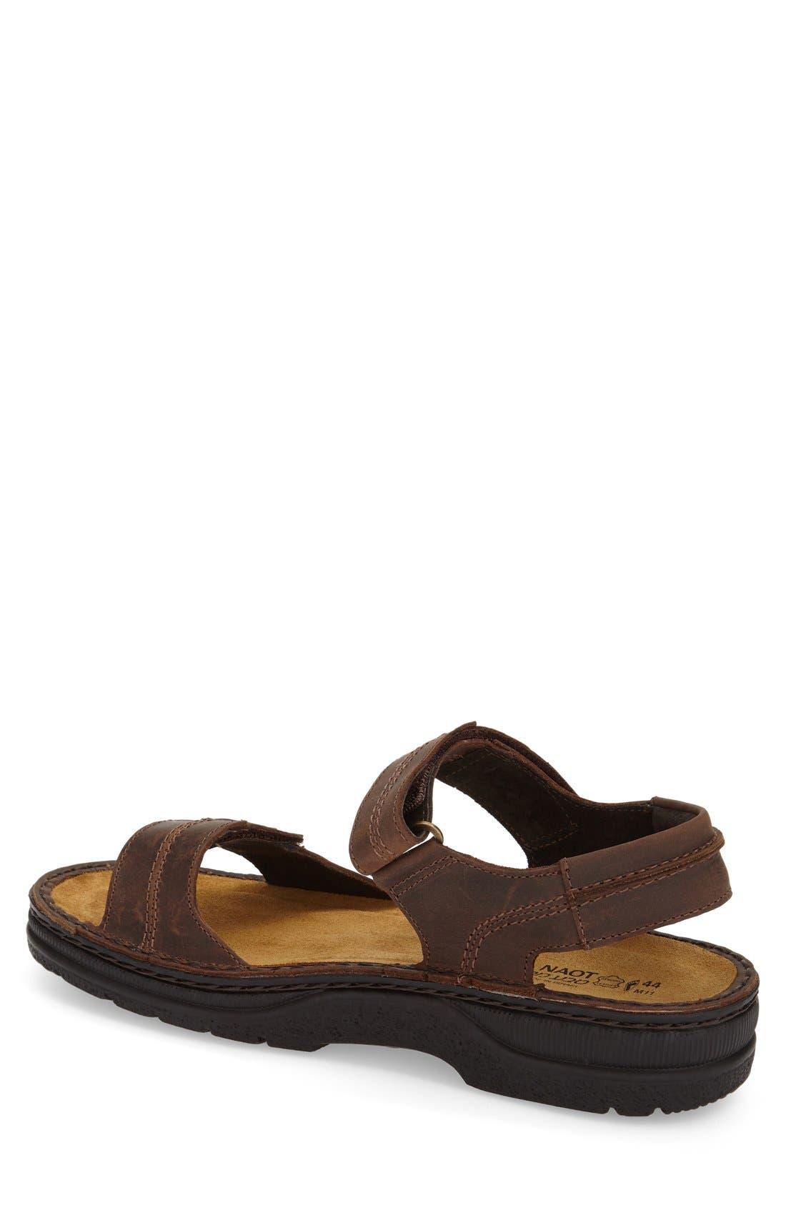 Balkan Sandal,                             Alternate thumbnail 2, color,                             Brown Leather