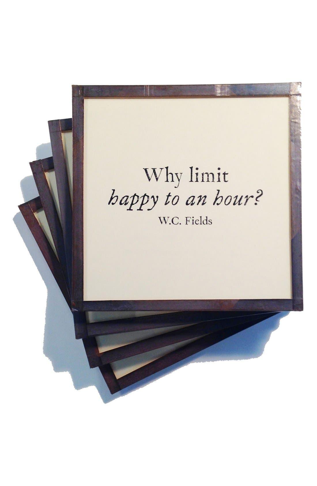 Alternate Image 1 Selected - Ben's Garden 'Why Limit Happy' Coaster Set