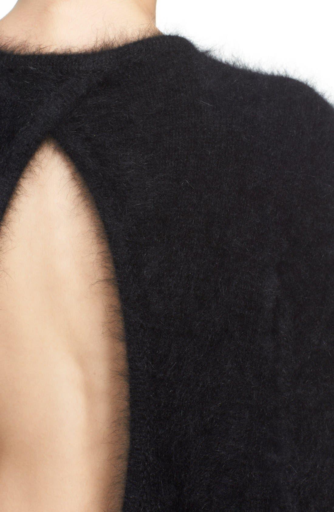 Alternate Image 5  - Vetements Open Back Oversize Angora Blend Sweater